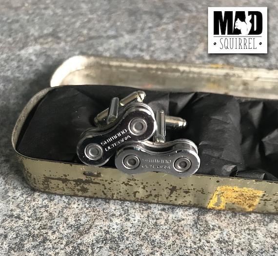 Beautiful Romac Puncture Repair Tin with Shimano Ultegra Cufflinks