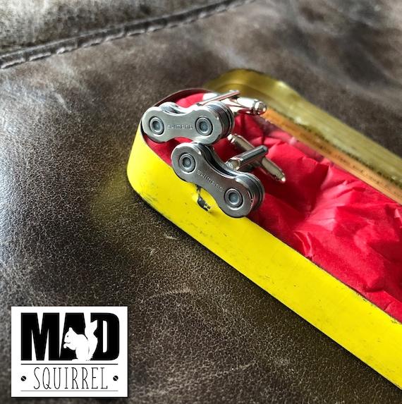 Beautiful Dunlop Puncture Repair Tin with Shimano Cufflinks