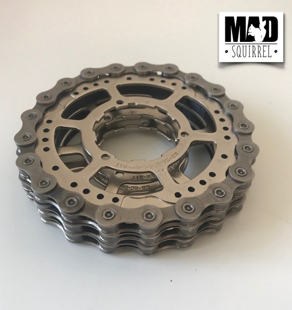 3 Stacking Bicycle Chain and Sprocket Drinks Coasters