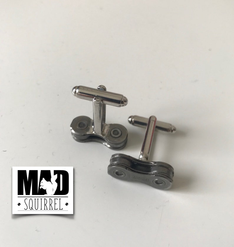 made from SRAM/'S new 12 speed chain Dark edition SRAM EAGLE Bicycle Chain Link Cufflinks