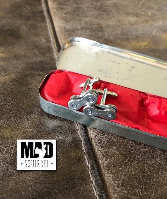 Beautiful Chemico Puncture Repair Tin with Shimano Cufflinks