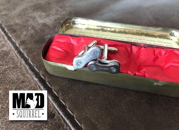 Beautiful Weldtite Puncture Repair Tin with SRAM Cufflinks