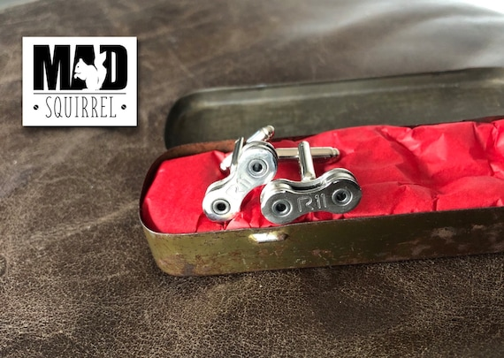 Limited Edition Rubberweld Puncture Repair Tin with Campagnolo Record R11 Cufflinks