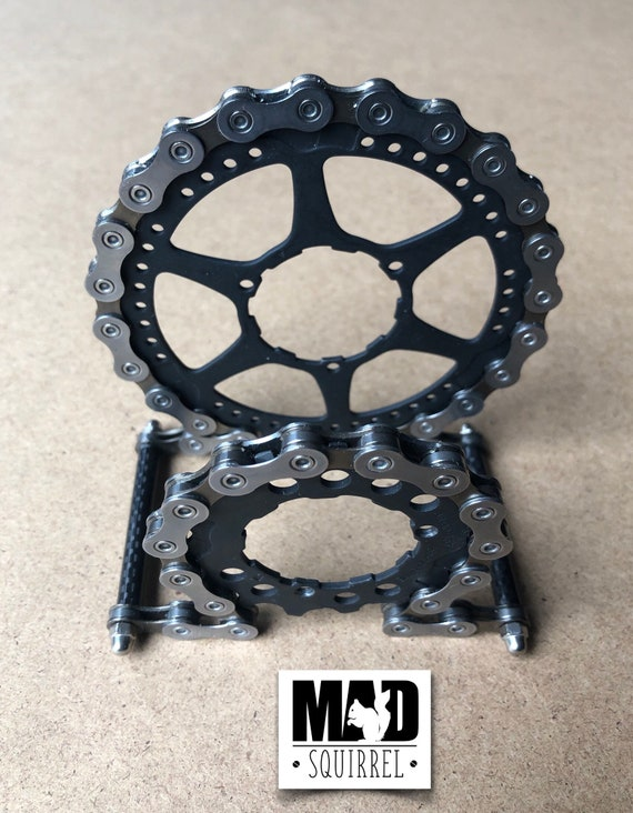 Beautiful and unique Dark Edition Shimano Chain and Sprockets with Carbon Fibre Tube Letter Rack with a Cyberpunk theme.