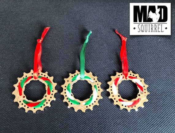 Christmas Cycling/Bicycle Decorations made from Sprockets from rear cassettes