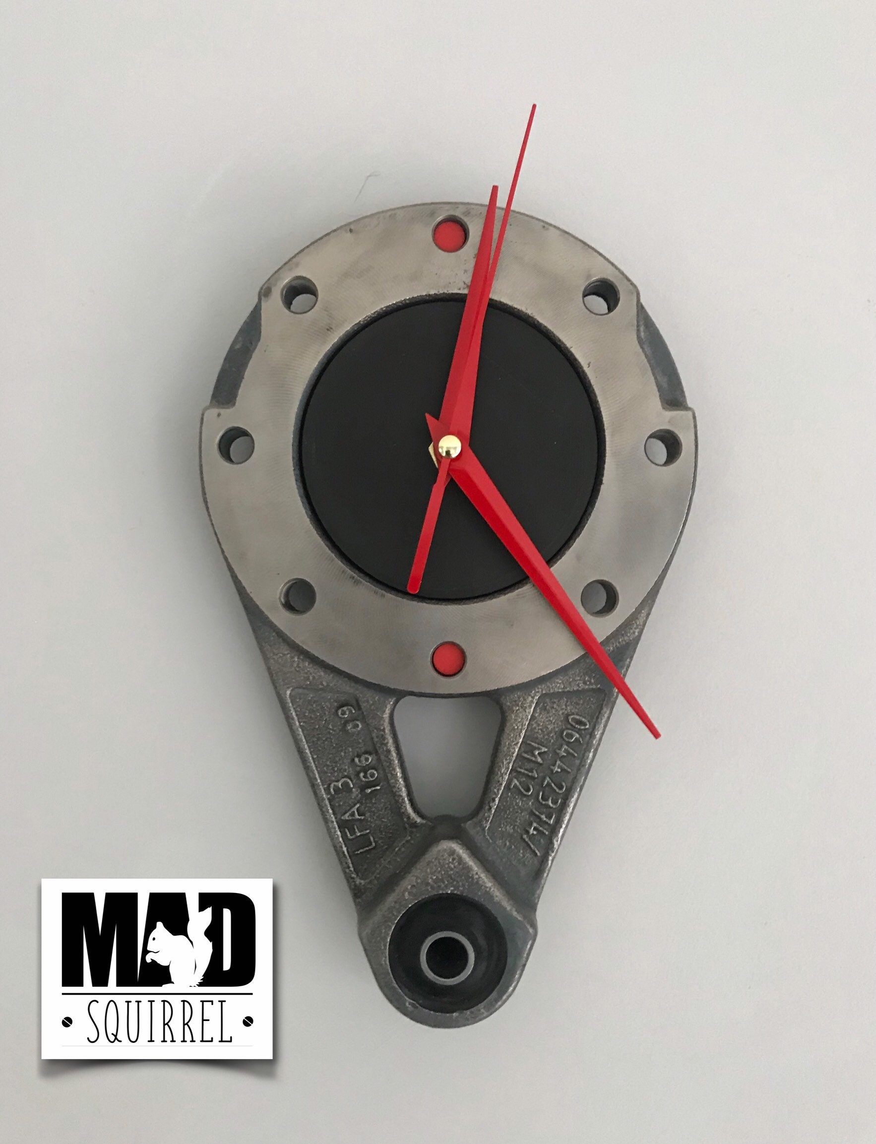 An Industrial Style & Steampunk Inspired Clock, made from a gearbox