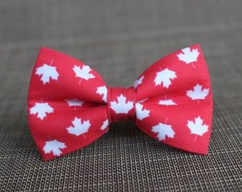 8538c039 Oh Canada Bow Tie | Maple Leaf Bow Tie | Bowtie | Dog Bow Tie | Toddler Bow  Tie | Red Dog Bow Tie | Mens Bow Tie | Boys Bow Tie
