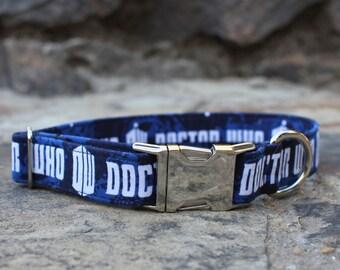 Doctor Who Collar | Dog Collar | Male Dog Collar | Summer Dog Collar | Pet Collar | Large Dog Collar | Small Dog Collar | Fabric Dog Collar