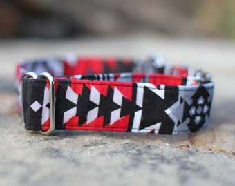 Tribal Collar, Southwest Dog Collar, Male Dog Collar, Pet Collar, Dog Collar, Large Dog Collar, Small Dog Collar, Fabric Dog Collar