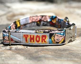 Thor Collar | Dog Collar | Male Dog Collar | Marvel | Superheroes | Metal Buckle | Large Dog Collar | Small Dog Collar | Gift for Pet Lovers