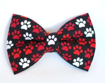 Paw Print Bow Tie, Dog Bow Tie, Boys Bow Tie, Bow Tie for Wedding, Groomsmen Bow Tie, Mens Bow Tie, Formal Bow Tie, Bow Tie Dog, For Him