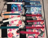 Mini Vinyl Snap on Pouch with Variety of Floral Prints