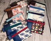 Mini Vinyl Snap on Pouch with Various Animals, Horses, Foxes, Sea Turtles, llamas, hummingbirds