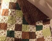 Modern Baby Quilt, Handmade Baby Quilt, Baby Boy Quilt, Gender Neutral Quilt, Crib Quilt, Nursery Quilt