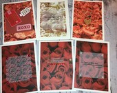 Handmade VALENTINES DAY Card 5 x 7 Cream Card with roses, red or white and pink floral Sold individually - you choose