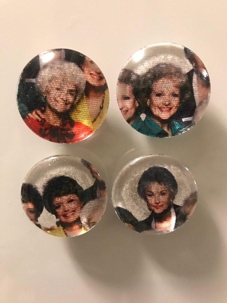 Fabric and Glass Magnet  sophia blanche rose and dorothy  image 0