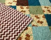 Modern Baby Quilt, Baby Quilt, Nursery Quilt, Baby shower gift, Homemade Quilt, Gender Neutral Baby Bedding, Handmade Quilt