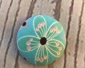 ONE Fabric covered button magnets colorful flower - super cute magnet 1 1/8 inch diameter