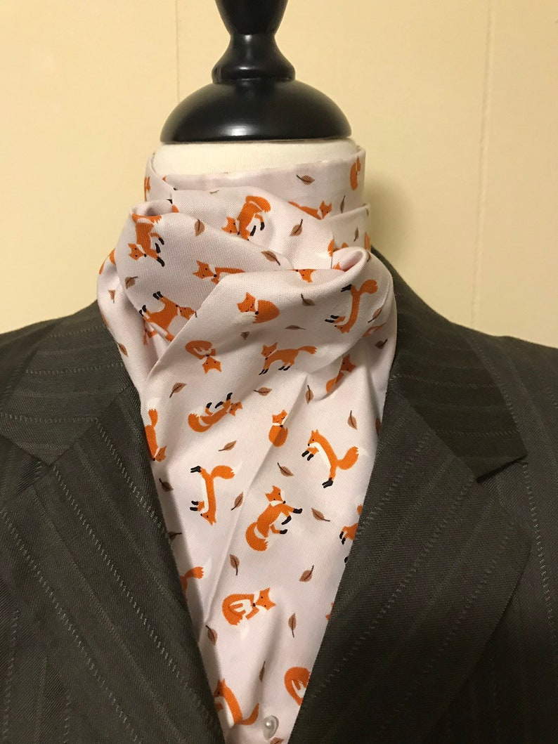 Four Fold Stock Tie Foxhunting Traditional Stock Tie Horse image 0