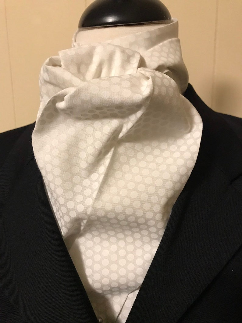 Four Fold Stock Tie Formal White Stock Tie Foxhunting image 0