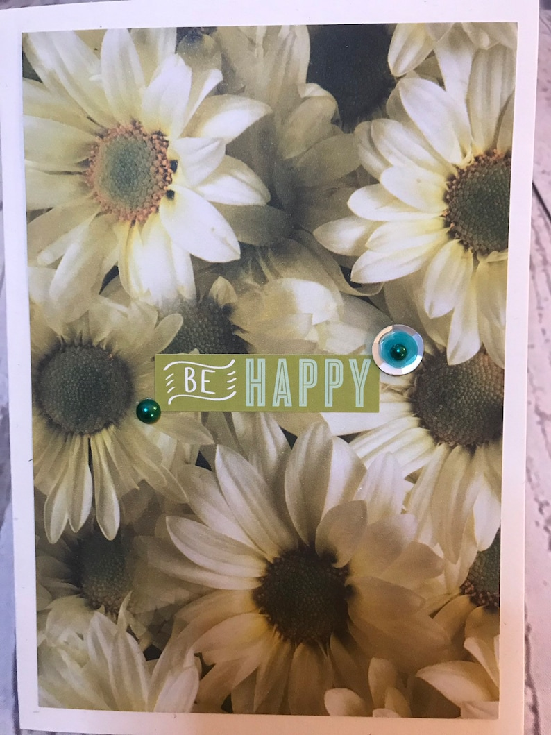 Handmade Friendship Encouragement Thankful Card 5 x 7 Cream image 0