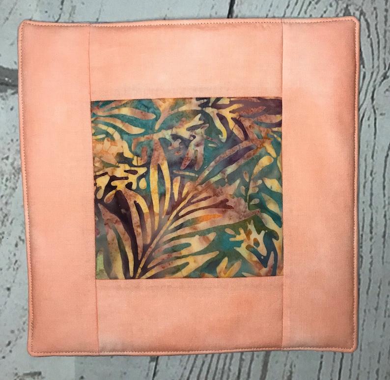 Insulated hot pad pot holder modern improvisational art image 0