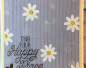 Unique Handmade Card 5.5 x 5.5 White cardstock and envelope - friends, love, dreams, encouragement and more - blank inside