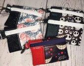 Mini Vinyl Snap on Pouch with Spooky Fun Prints