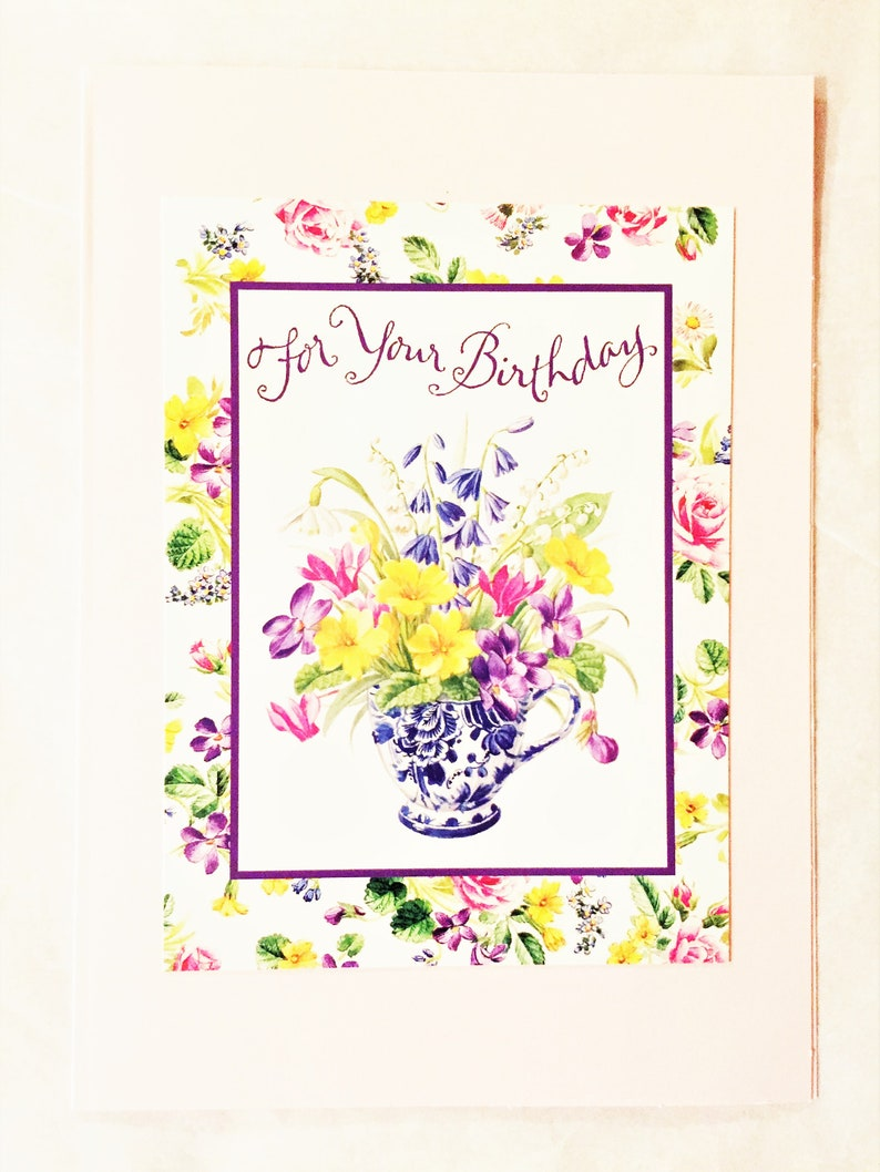 Spring Flowers Birthday Card For Her