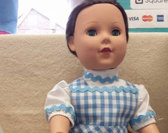 Dorothy from the Wizard of Oz Costume for 18 inch dolls