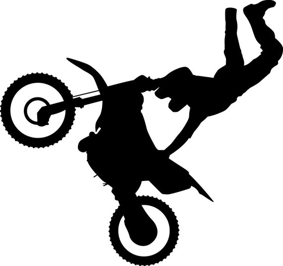Dirt Bike Clipart Black And White Dirt Bike Silho...