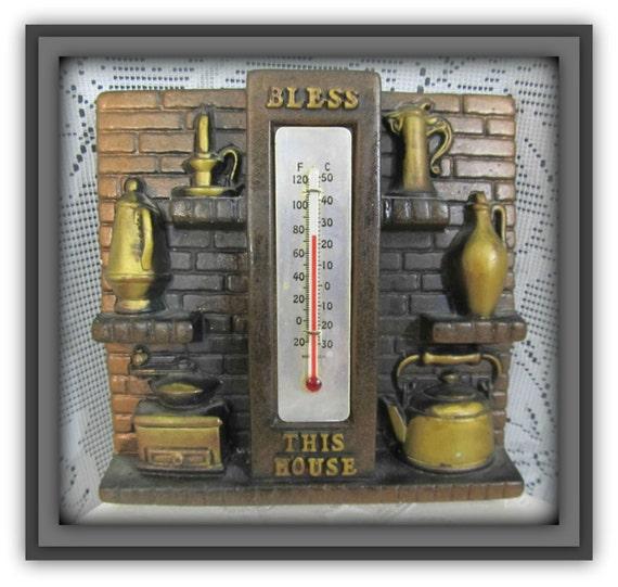 Alte Küche Thermostat, Vintage Küche Décor, 70er Jahre Mauer-, Kunst,  Vintage Wandkunst, alte Bauernhof-Küche, rustikale Küche Dekor