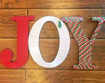JOY Letters-Joy Mantle Decor-Christmas Mantle-Christmas Gifts-Decorative Letters-Gift Basket Ideas, Gifts for Her, Tightly Wound Designs
