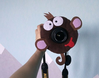 Monkey camera lens buddy. Camera Accessories. Lens Buddy. Photographer Helper. Family Photography