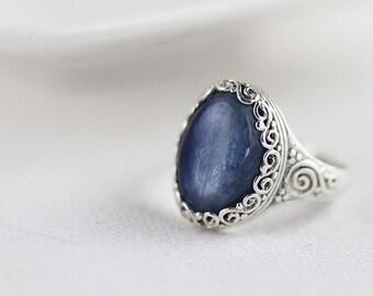 Sterling Silver Vintage Gemstone Ring - Sterling Silver Ring - Vintage Jewelry - Statement Ring - Vintage Silver Ring - Natural Gemstone
