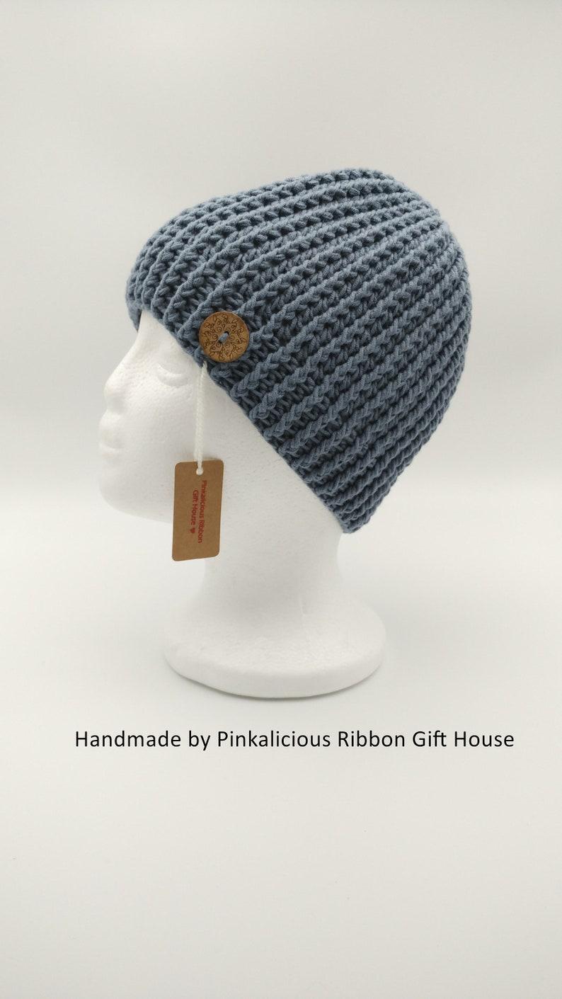 98f735a55 Crochet Messy Bun Hat/ Messy Bun Beanie/ Ponytail Beanie/ Jeans Blue Messy  Bun (Teen/Adult)