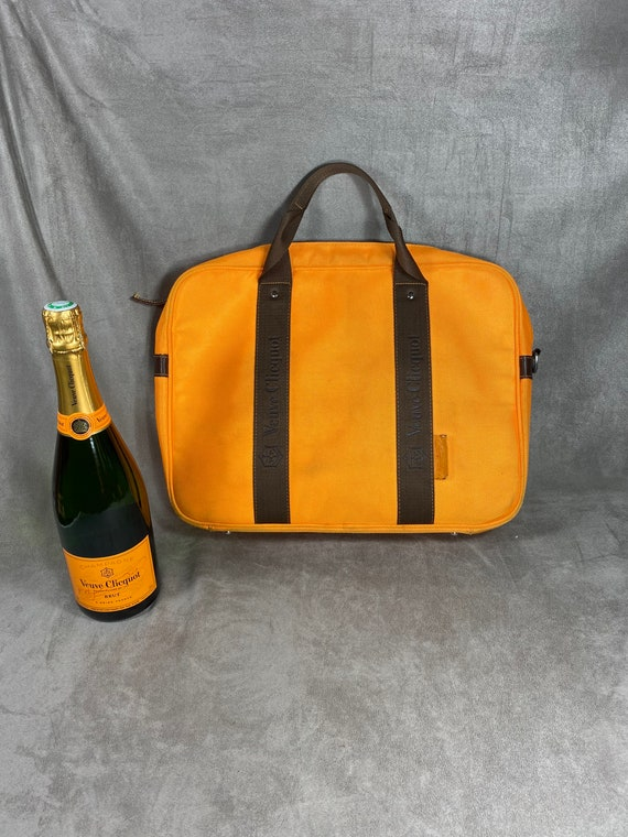 Veuve Clicquot laptop bag, Orange Clicquot laptop
