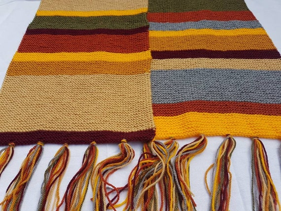 Dr Who Scarf Fourth Doctor Scarf Etsy