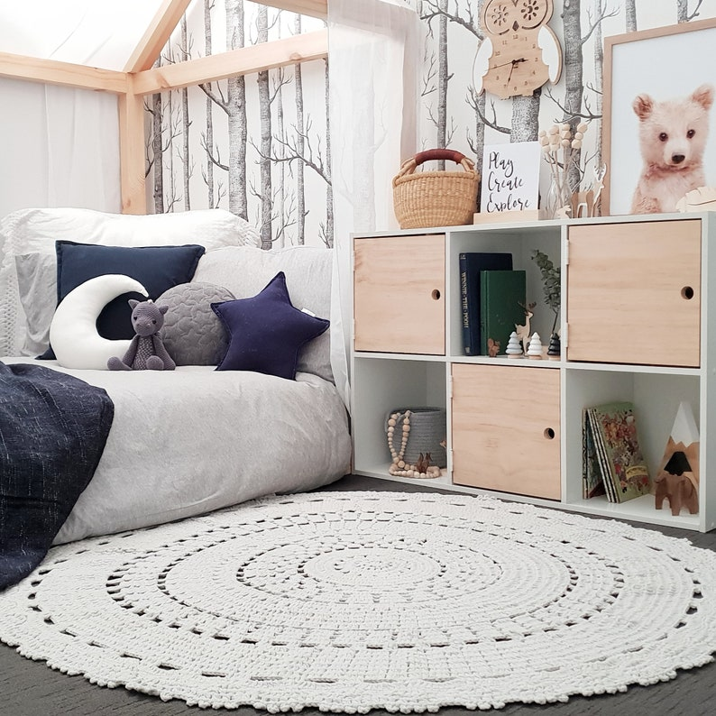 Crochet Rug for Baby Nursery | Stay at Home Mum