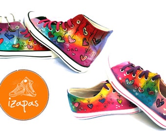 e62e49e032da Kids Adults Painted Personalized Sneakers childrens canvas