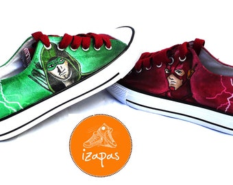 2c0d83de5d57 Flash and arrow Painted Personalized Sneakers