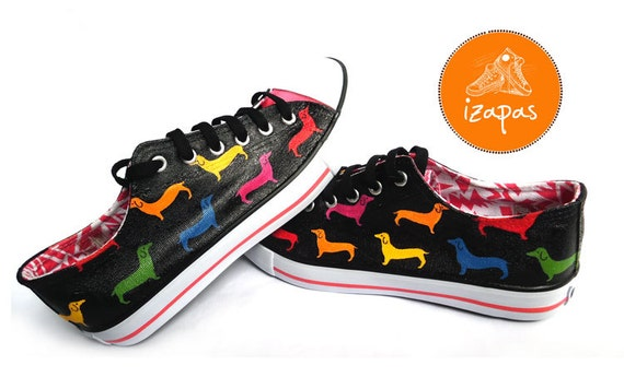 Dachshund Painted Sneakers personalized