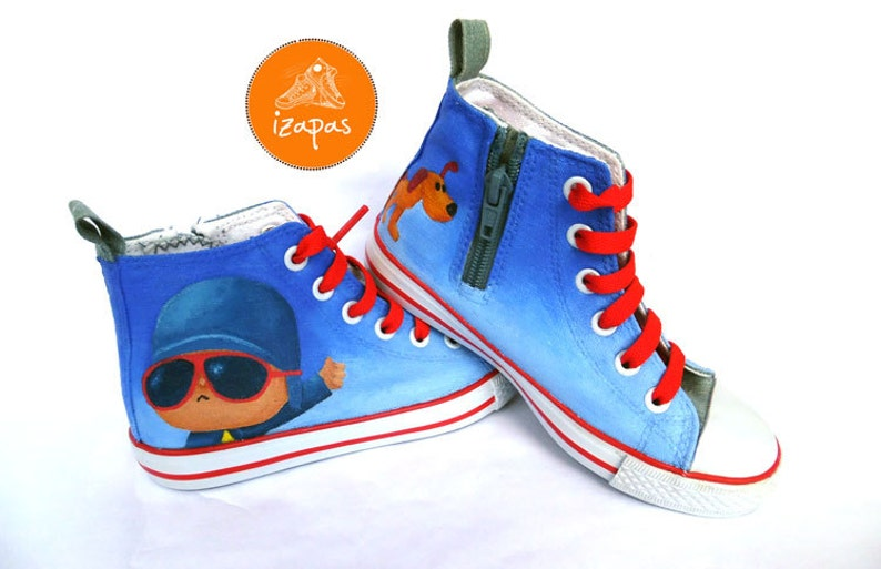 48bc5f801a32 Kids Painted Personalized Sneakers childrens canvas shoes