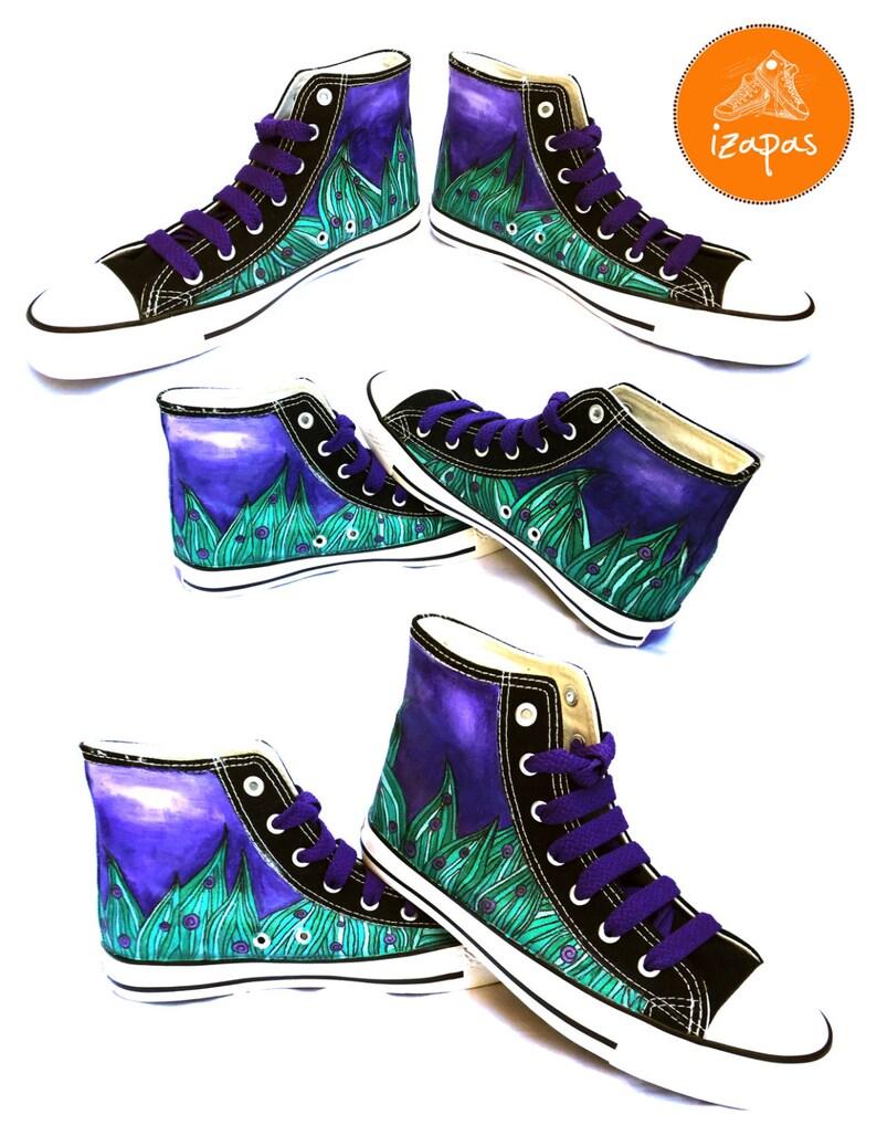 Sneakers personalizzate dipinte scarpe in tela conversare zCcYz0QQ