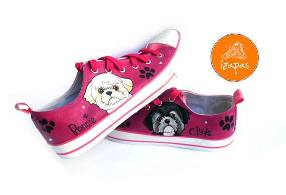 Shih Tzu Painted Sneakers personalized