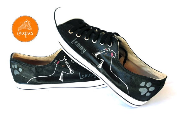 Hand painted personalised shoes by izapas on Etsy