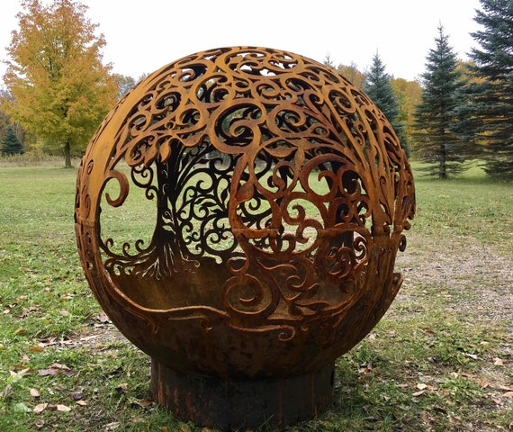 image 0 - FIREBALL FIRE PITS Individually Handcrafted Steel Sphere Fire Etsy