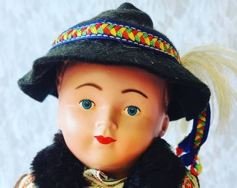 """Nicolas Haunted Doll ~ Vintage 1940s 12"""" Jointed Celluloid ~ Paranormal ~ Frenchman ~ Seeks His Wife ~ Lonely ~ WW2"""