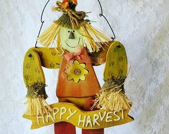 "Wooden Turkey 17"" Wall Hanging ~ Thanksgiving Decor ~ Vintage Hand Painted Turkey ~ Wall Decor ~ OOAK"