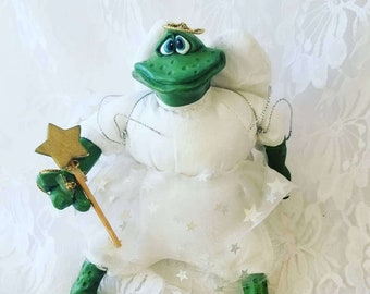 """Vintage Frog Angel Doll ~ Perfect for a Birthday Gift ~ Angel Collector ~ Frog Frogs 8"""""""